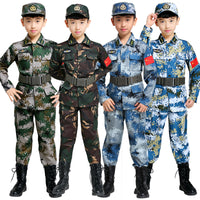 100-180cm Kids Military Combat Training Costumes Children Stage Performance Clothing Boys Army Camouflage Suit for Kids