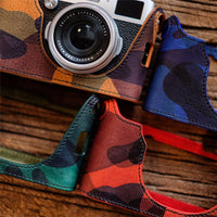 Cam-in LCP-001 leather camera protective case Camouflage style camera leather case for Fujifilm X100L