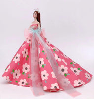 genuine princess dress for barbie clothes lot wedding dress barbie doll gown dress elegant party accessories fashion