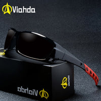 VIAHDA NEW Fashion Polarized Sunglasses Men Luxury Brand Designer Vintage Driving Sun Glasses Male Goggles Shadow UV400