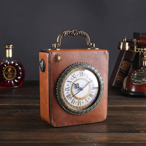 2019 New Personalized Fun Fashion Clock Shape Leather Bag Ladies Shoulder Bag Luxury Designer