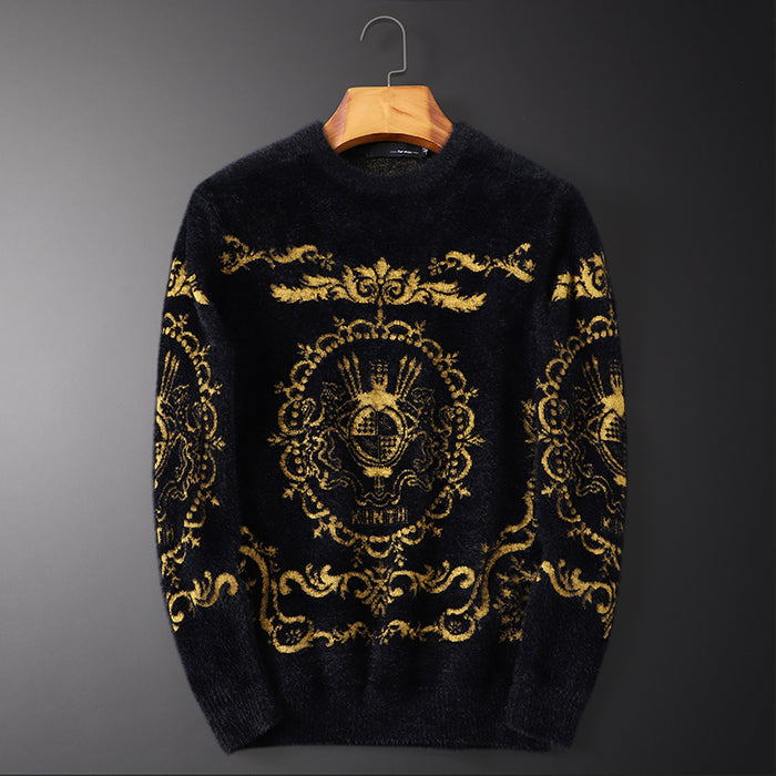 New 2019 Men Luxury Winter classic Flowers Clouds Embroidered Casual Sweaters pullover Asian Plug Size High quality Drake #N103