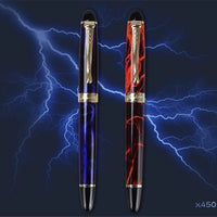 high quality newest Jinhao 450 Fountain Pen Lightning Blue /Lightning Red 0.5/1.0MM Nib Thick Ink Pens