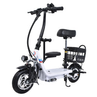 48V 15Ah/18Ah/20Ah Three Seat Electric Scooter 10 Inch Two Wheel Instead Of Walking City Mini Adult Electric Bike Bicycle EBike