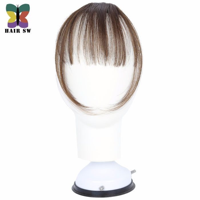 HAIR SW Fake Long Blunt Bangs Mini Clip-In Hair Extension Synthetic False Hair piece Fringe Seamlessly Natural clip On For Woman