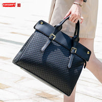 New leather Women briefcase female inch laptop shoulder bag business handbags