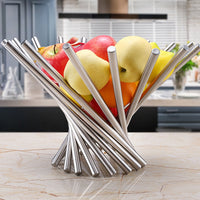 Storage Fold Fruit Bowl Basket Household Kitchen Accessories Rotate Strainer Fashion Plate