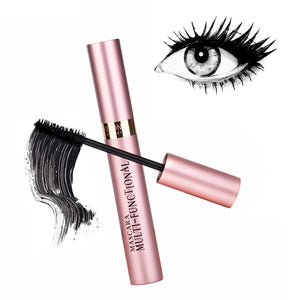 KIFONI 3D Waterproof Mascara Thick Curling Length Not Smudge with Brush 3d Fiber Lash Black Mascara maquiagem profissional TSLM1