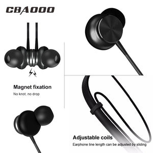 CBAOOO Bluetooth Headphone Magnetic Wireless Earphone Neckband Sport Bluetooth Headset with Microphone for iPhone Android