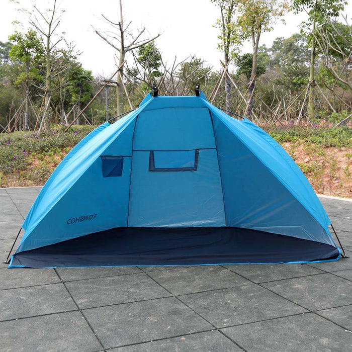TOMSHOO Summer Beach Tent Outdoor Camping Tent Anti UV Sunshade Shelter for Fishing