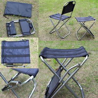 Outdoor Folding Chair Aluminum Alloy Fishing Camping Chair BBQ Stool Folding Stool Portable Picnic Travel Chair Pesca Iscas