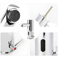 AUTO Infrared Sensor Basin Faucet Water Tap Copper Brass Hot and Cold Mixer Tap for Bathroom Kitchen torneira do banheiro