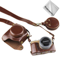 Full body Precise Fit PU leather digital camera case bag cover with  strap for Olympus PEN E-PL9 EPL9  E-PL10 with 14-42mm Lens