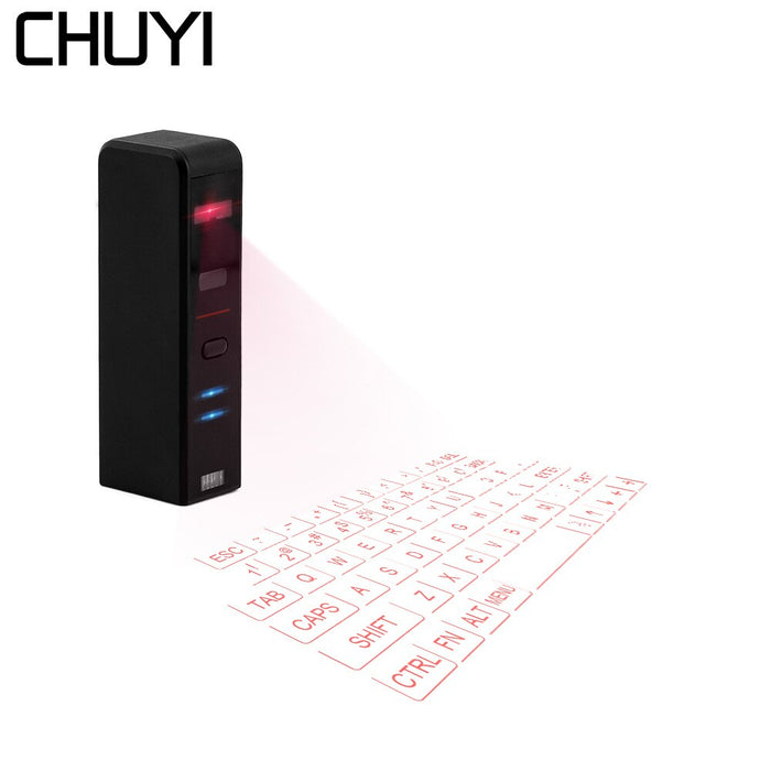 CHUYI Laser Keyboard Bluetooth Wireless Virtual Projection Keyboard Portable With Mouse Function