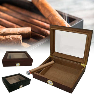 Cedar Lined Travel Cigar Humidor Storage Boxes With Humidifier Hygrometer Humidor Cigar Accessory Box Cases Humidors Fit Wooden
