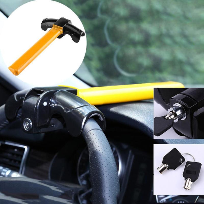 Universal Car Anti-Theft Security Rotary Steering Wheel Lock Auto For SUV Truck Aluminum