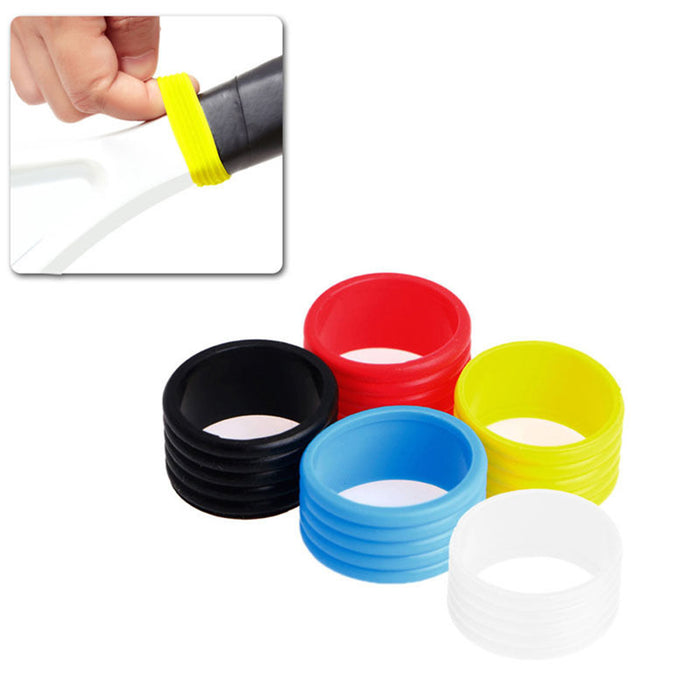 10Pcs Tennis Racket Handle Anti-slip Rings Sweat Absorbent Silicone Tennis Racket Overgrip