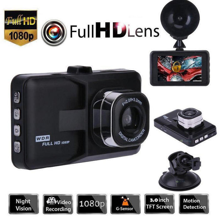 Full HD 1080P Car Driving Recorder Vehicle Camera DVR EDR Dashcam With Motion Detection Night Vision