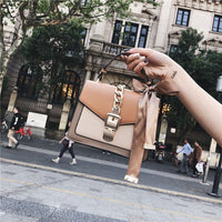 Luxury Handbag Women Bag Designer 2019 Fashion Chain Scarve Shoulder Messenger Purse Lady Panelled Top-handle Flap Bag Feminina