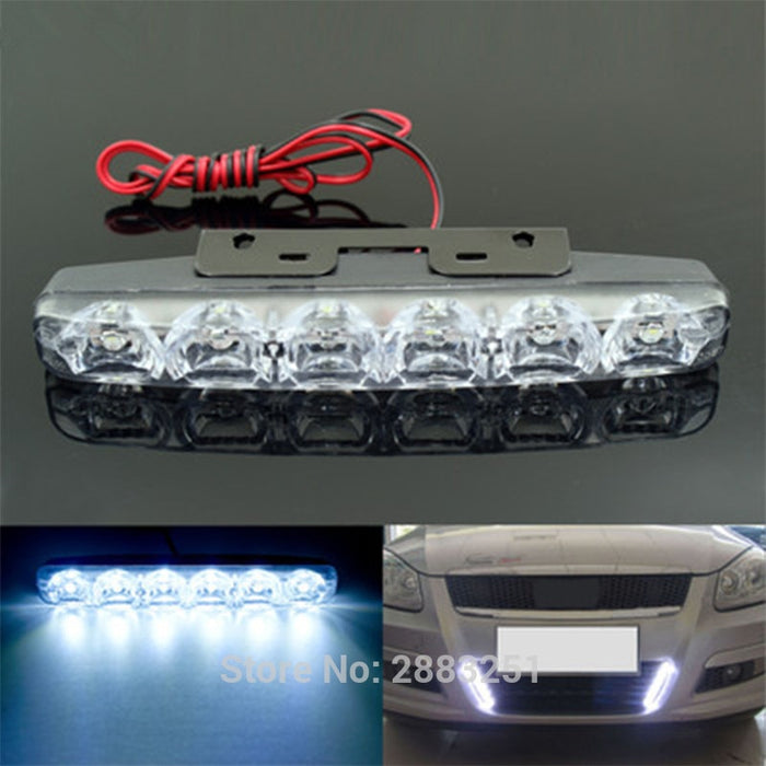 DC12v Waterproof Car LED Day Light Driving Lamp For fiat 500 punto bravo panda ducato stilo palio