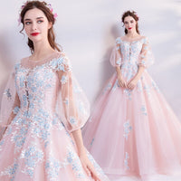 Pink Quinceanera Dresses Elegant Organza Ball Gown See-through Gorgeous Long Prom Gowns 2019 Vestidos De Quinceaneras En Turqusa