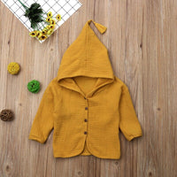 Vintage Toddler Kid Baby Boys Girls Cotton Coats Cardigan Hoodies Tops Outerwear Jackets Children's Clothes D15