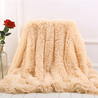 Soft Fur Throw Blanket on the Couch Long Shaggy Fuzzy Fur Faux Bed Sofa Blankets Warm Cozy With Fluffy Sherpa46
