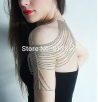 HOT SELLING New Style BY463 Women Silver Plated Chains Multi Chains Single Shoulder Chains Sexy Chains jewelry 3 Colors