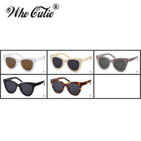 WHO CUTIE 2018 Oversized Cat Eye Sunglasses Women Brand Designer Vintage Sunnies Tortoise shell Cateye Sun Glasses Shades OM752