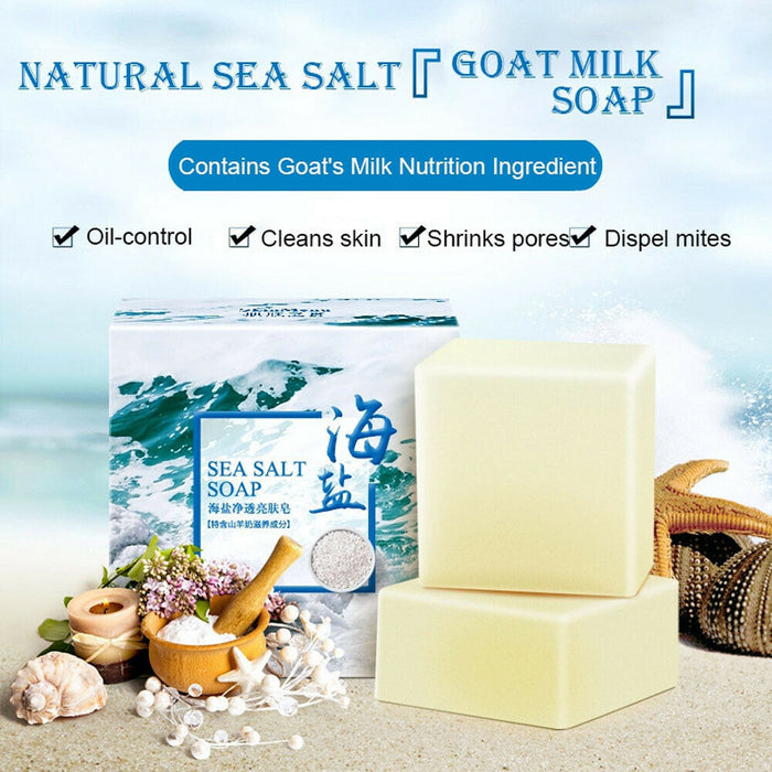 Sea Salt Ba Anti Fungus Skin Bath Body Whitening Lightening Acne Treatment Soap Acne