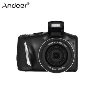 Andoer 24MP 720P HD Digital Video Camera Vlogging Camcorder Video Recorder 20X Zoom + 3.5inch IPS Display + Flash Light
