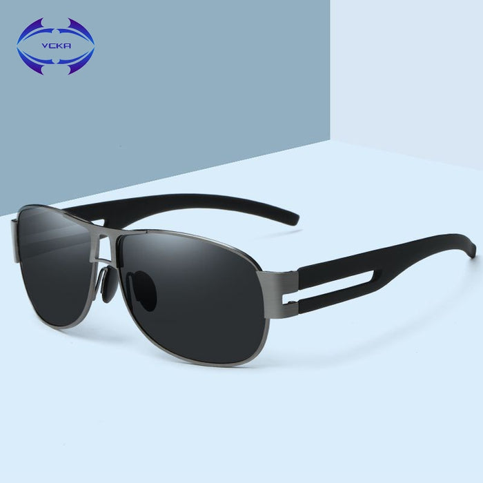 VCKA Brand Polarized Sunglasses Men New Fashion Eyes Protect Sun Glasses With Accessories
