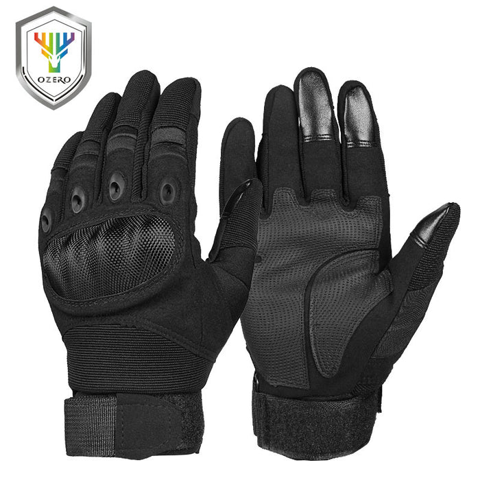 OZERO Motorcycle Gloves Super Fiber Reinforced Leather Motocross Motorbike Biker Racing