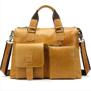 men's briefcase genuine leather laptop bags for mens messenger bag men leather