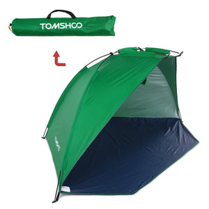 TOMSHOO 2 Persons Camping Tent Single Layer Outdoor Tent Anti UV Beach Tents Sun