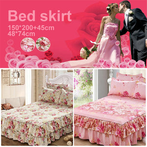 Hot Sell Ivory Color Bed Skirts Bedding Skirt Wrap Around Elastic Fluffy Dust