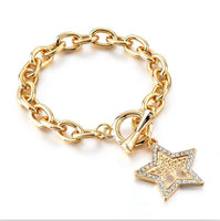 LongWay New Desiger 2019 Women's Rhinestone Jewelry Gold Bracelets Vintage Tree Of Life Charm Bangles For Women SBR180157