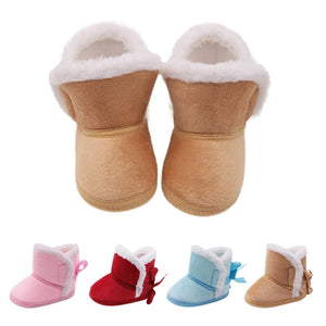 Winter Baby Boys Girls Shoes Russia Winter Infants Warm Shoes Faux Fur Girls Baby Booties Leather Boy Baby Boots