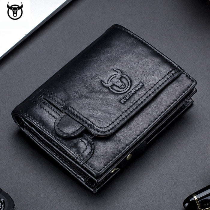 men Wallet Genuine Leather Men's Purse Design male Wallets With Zipper Coin Pocket
