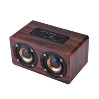Retro Wireless Wood Bluetooth Speaker Portable Mini Bluetooth Altavoz 3D Dual Loudspeakers Support TF Card Player for xiaomi