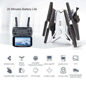 RC Helicopter 1080P Camera Drone WiFi FPV Drone Camera HD Foldable RC Quadcopter 2.4G Altitude Hold Quadrocopter Toy For Kids