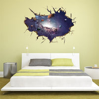 3D Art Wall Stickers Starry universe wall sticker home decoration accessories bathroom wall stickers adornos para casa allah