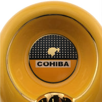 COHIBA Round Cigarette Ceramic 2 color Ashtray Pocket Holder 1 cigar Travel Cigar Ashtrays Portable Smkoing With Gift Box