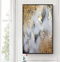 Hand painted Modern Abstract canvas Oil Paintings Abstract gold Oil Painting picture