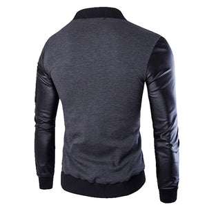 Mountainskin Bomber Jacket Men's Coats Patchwork Leather Men Outerwear Autumn Slim Fit 2020 Brand Male Motorcycle Jackets SA003