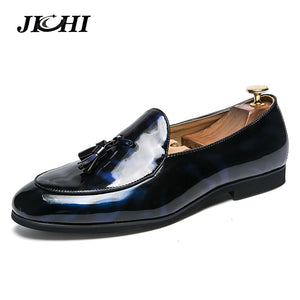2019 Mens Tassel Shoes Leather Italian Formal Dress Office Footwear Luxury Brand Fashion Elegant Oxford Shoes For Men Big Size
