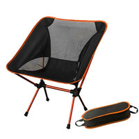Folding Portable Moon Chair with Pillow Fishing Camping Extended Hiking Seat Long Beach Chair Light Contrast Color Furniture