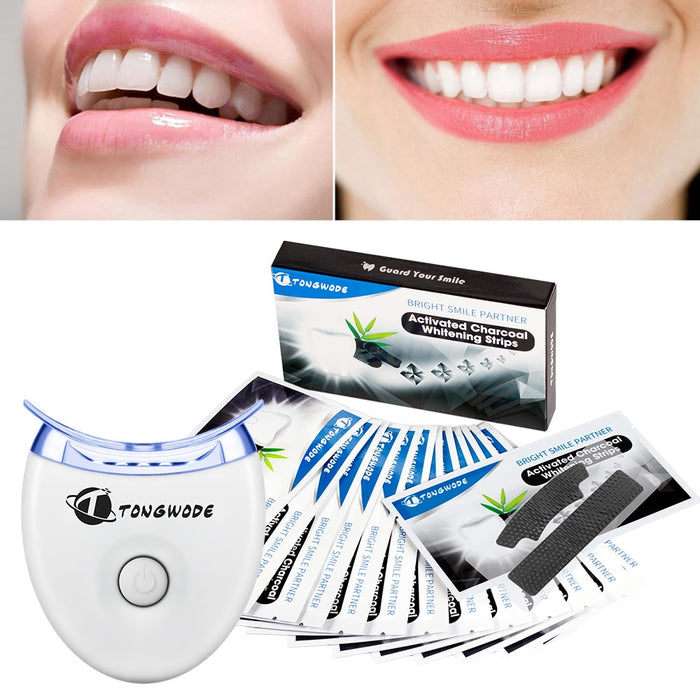 Tongwode Teeth Whitening Strip Activated Charcoal White Teeth Sticker Strips Dental Bleaching
