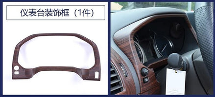 ABS chrome Car Accessories INNER DASHBOARD CONSOLE PANEL COVER TRIM GARNISH MOLDING For Toyota land cruiser prado 150 FJ150 2018 (INNER DASHBOARD)