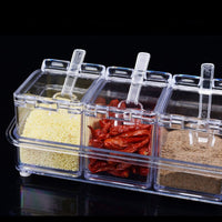 4 Piece/Set Hot Seasoning Jar Set Kitchen Condiment Box Acrylic Spices Storage Box Transparent Seasoning Boxes Storage Container